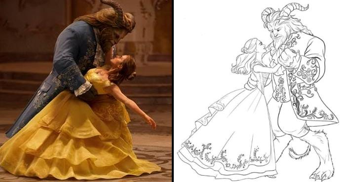 free printable beauty and the beast coloring pages this fairy tale life