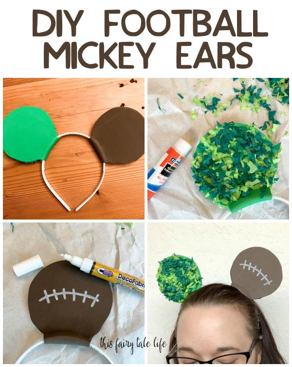 DIY Football Mickey Ears