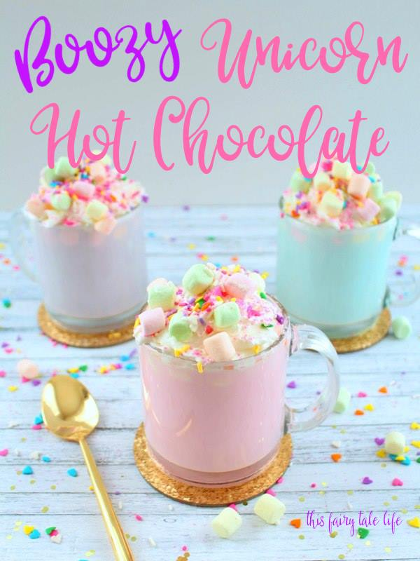 Boozy Unicorn Hot Chocolate