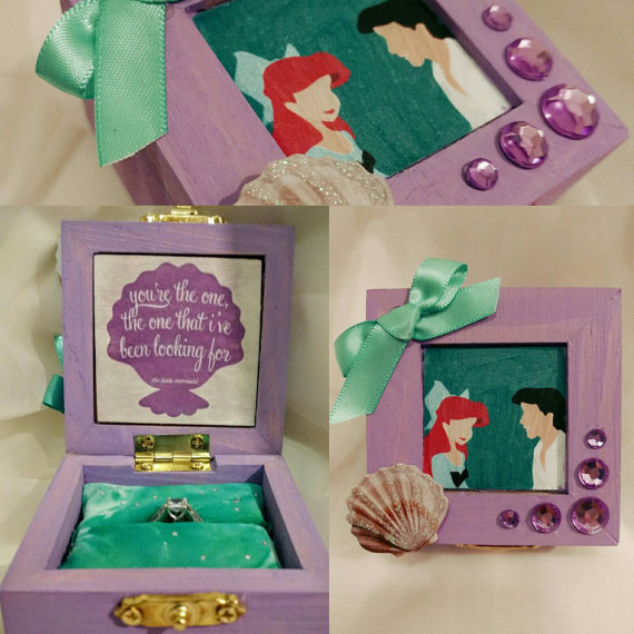 "Say ""Yes"" to these Cute Custom Disney Engagement Ring Boxes"