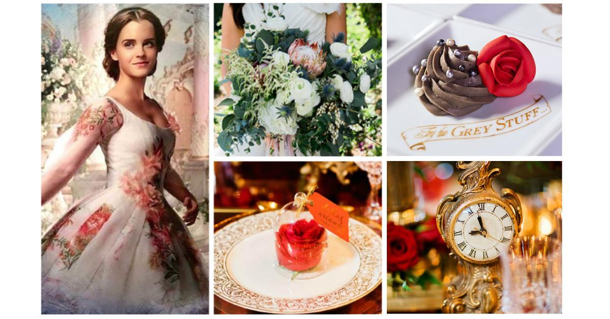 Live Action Beauty And The Beast Wedding Inspiration