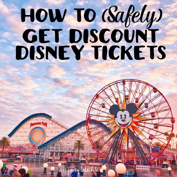 How to Get Discount Disney Tickets