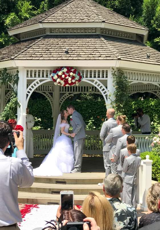"""A True """"Guest Post"""" - Andrea and Ryan's Beauty and the Beast Inspired Disneyland Wedding"""