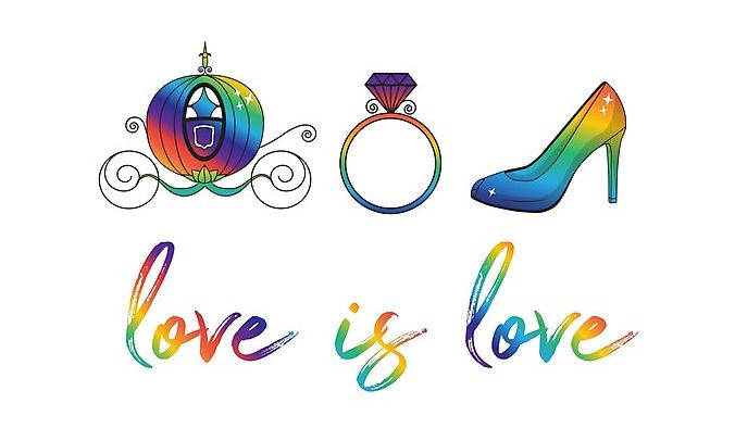 Prep for pride with these lgbtq fairy tale wedding designs this prep for pride with these lgbtq fairy tale wedding designs junglespirit Image collections