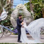 Yvette and Josh's Vintage Garden, Alice in Wonderland, Roaring Twenties Disneyland Wedding: The Ceremony