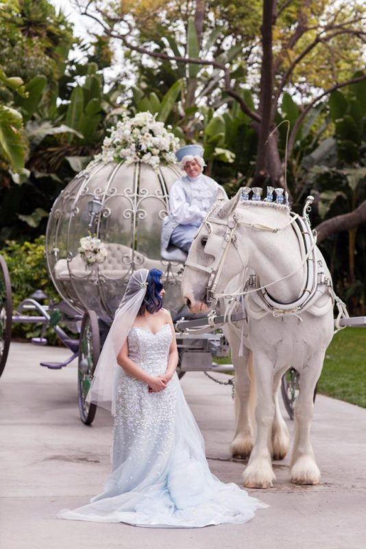 Yvette And Josh S Vintage Garden Disneyland Wedding The