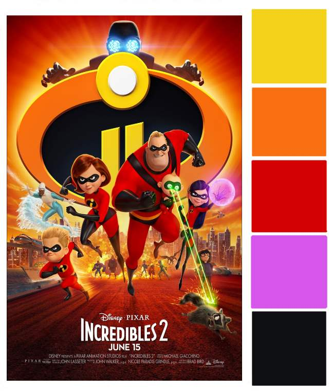 INCREDIBLES 2 Wedding Inspiration and Poster Palette