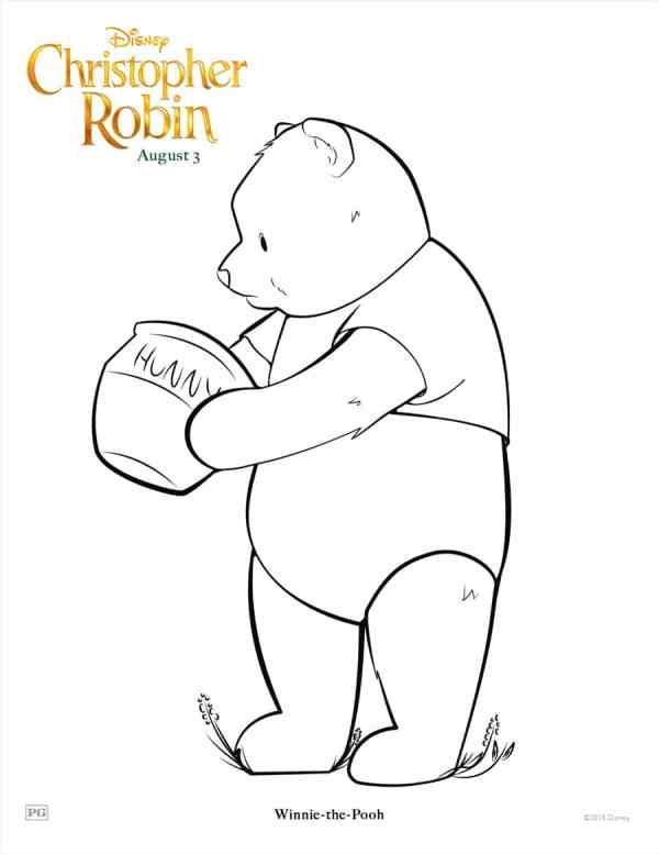 CHRISTOPHER ROBIN Coloring Pages and Printable Activities