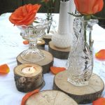 A Budget Fairy Tale Moment – Wood Slab Centerpieces