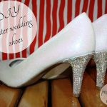DIY Winter Wedding Shoes