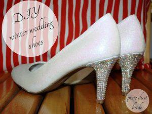 DIY Winter Wedding Shoes