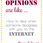 Opinions Are Like …. [How to Deal When Someone Disagrees with You on the Internet]