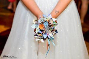DIY Disney Park Map Bridal Bouquet