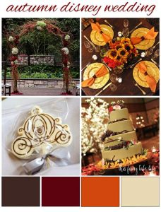 Autumn Disney Wedding Inspiration Board