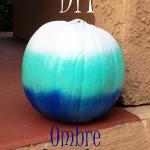 DIY Ombre No Carve Pumpkin