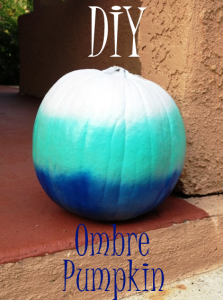 DIY Ombre No Carve Pumpkin