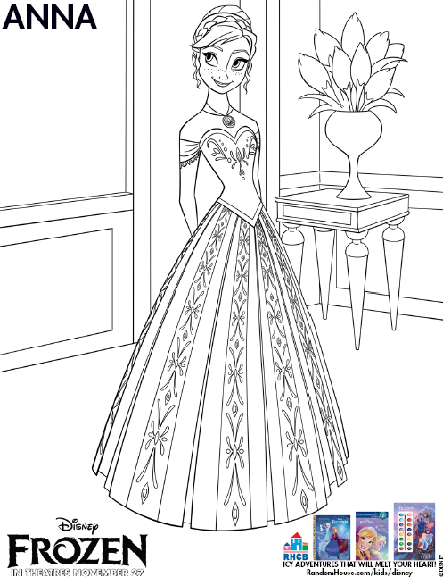 Free Frozen Coloring Pages - Inspired By Dis