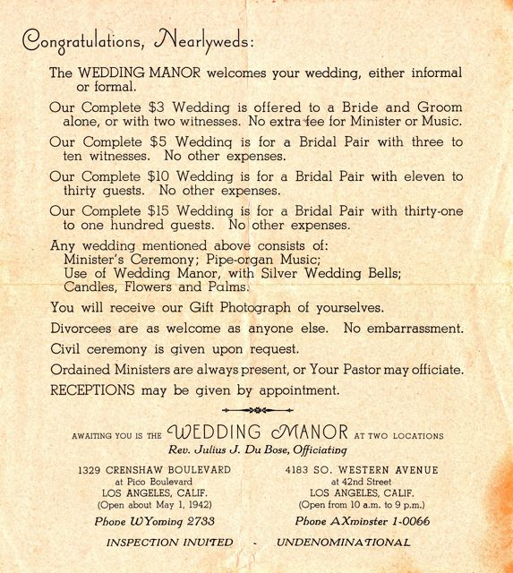 Vintage Wedding Advertisements from the 1940s