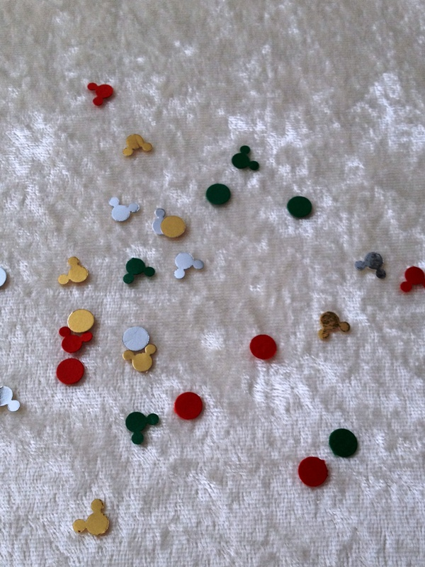Mickey Confetti for Your Holiday Cards