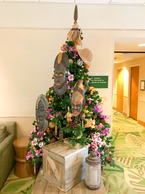 Christmas Trees at The Disneyland Hotel