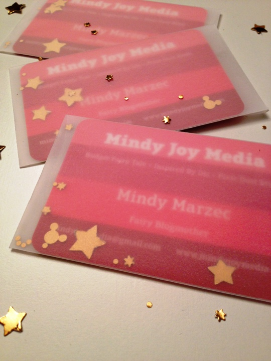 My Hidden Mickey Confetti Business Card Packets for Alt Summit // Blogging It Forward