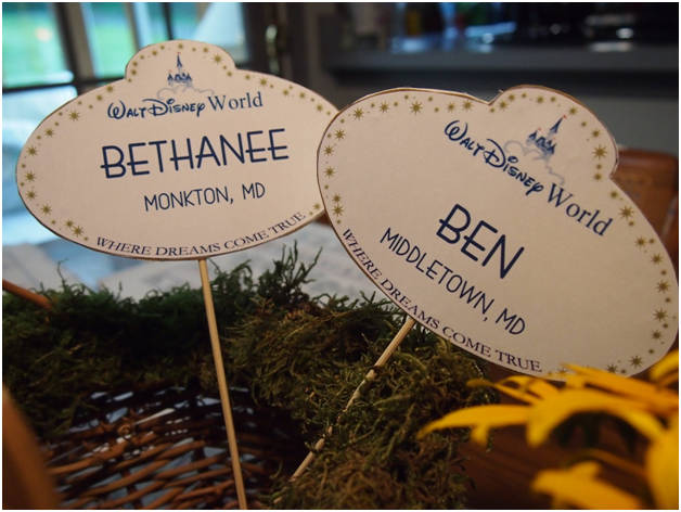 DIY Disney Cast Member Name Tags Escort Cards