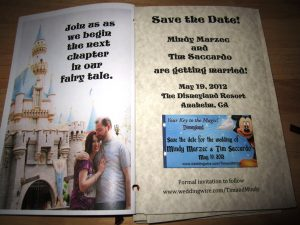 Our Story Book Save the Date Invitations