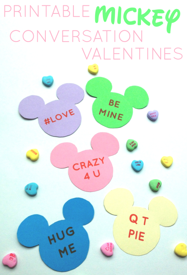 Printable Mickey Conversation Valentines // Inspired By Dis