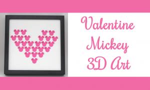 Valentine Mickey 3D Art