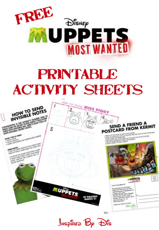 Muppets Most Wanted Printable Activity Sheets // Inspired By Dis