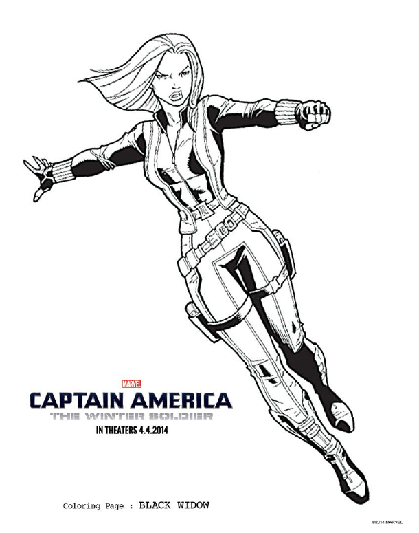 Captain America The Winter Soldier Coloring Pages And New Movie Clip