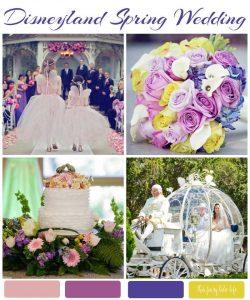 Disneyland Spring Wedding Inspiration Board