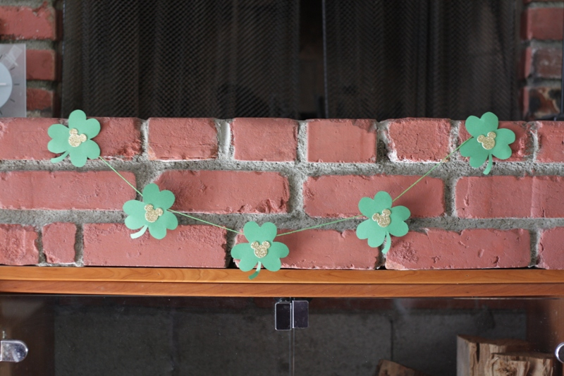 Mickey St. Patrick's Day Garland // Inspired By Dis