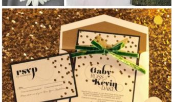 Shades of Green and Gold Wedding Inspiration Board