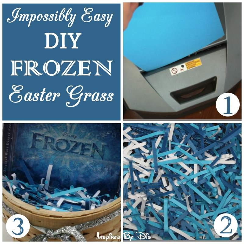 DIY Frozen Inspired Easter Grass