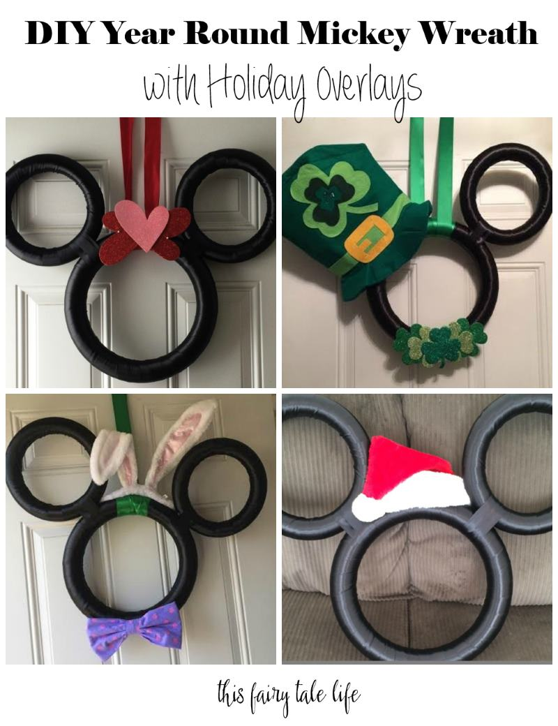 DIY Year Round Mickey Wreath with Holiday Overlays