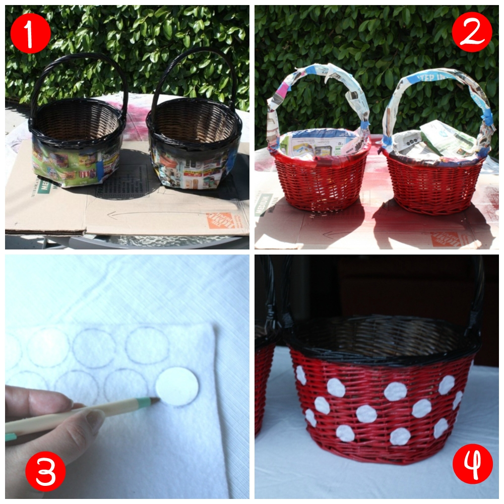 DIY Mickey and Minnie Easter Baskets // Inspired By Dis