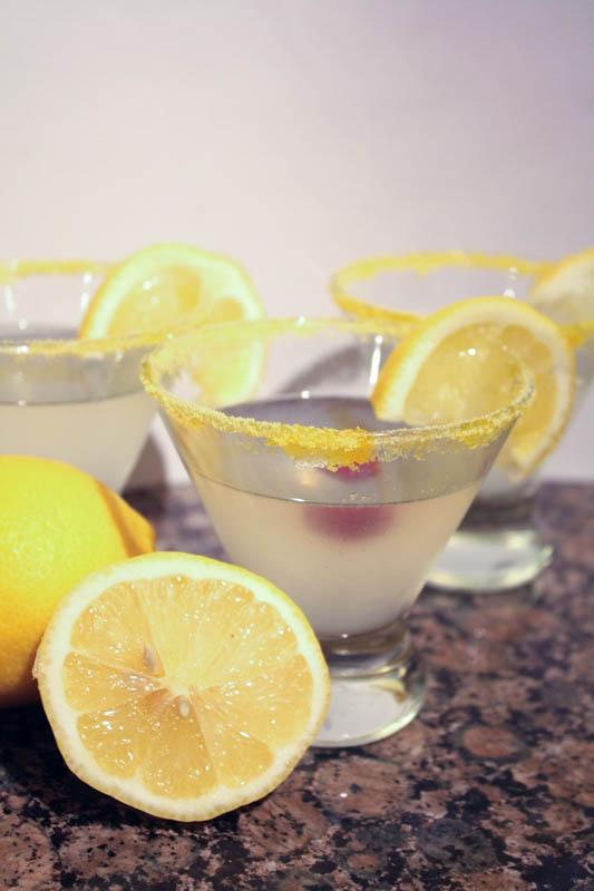 Raspberry Lemon Drop Martini