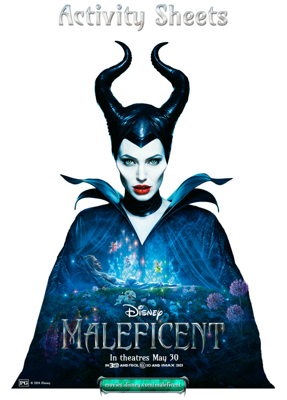 Maleficent Movie Activity Sheets And New Clips This Fairy