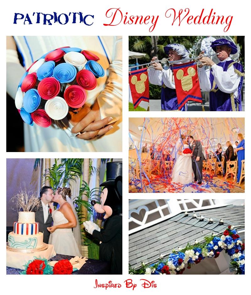 Patriotic Disney Wedding Inspiration Board
