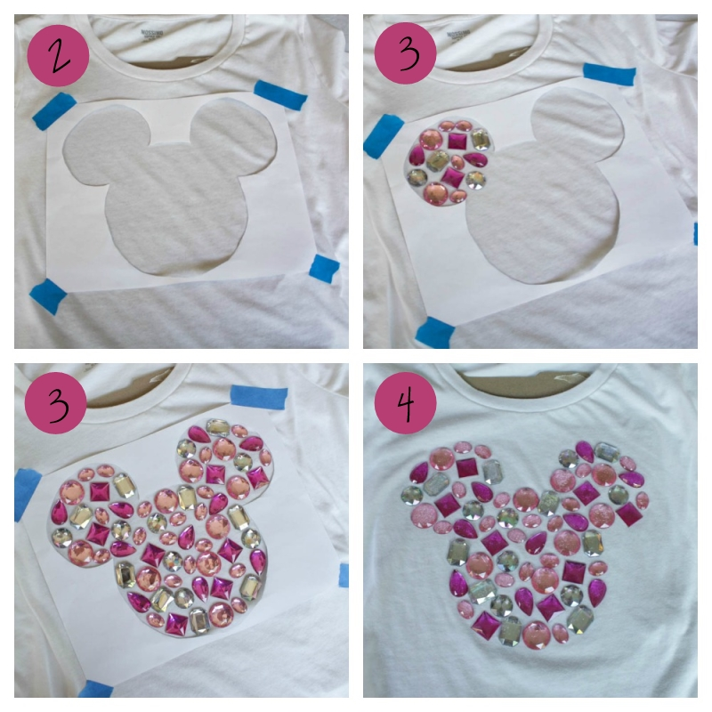 DIY Gem Mickey Shirt