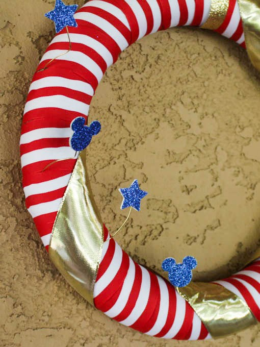 Fourth of July Mickey Wreath