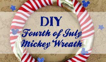 Fourth of July Mickey Wreath