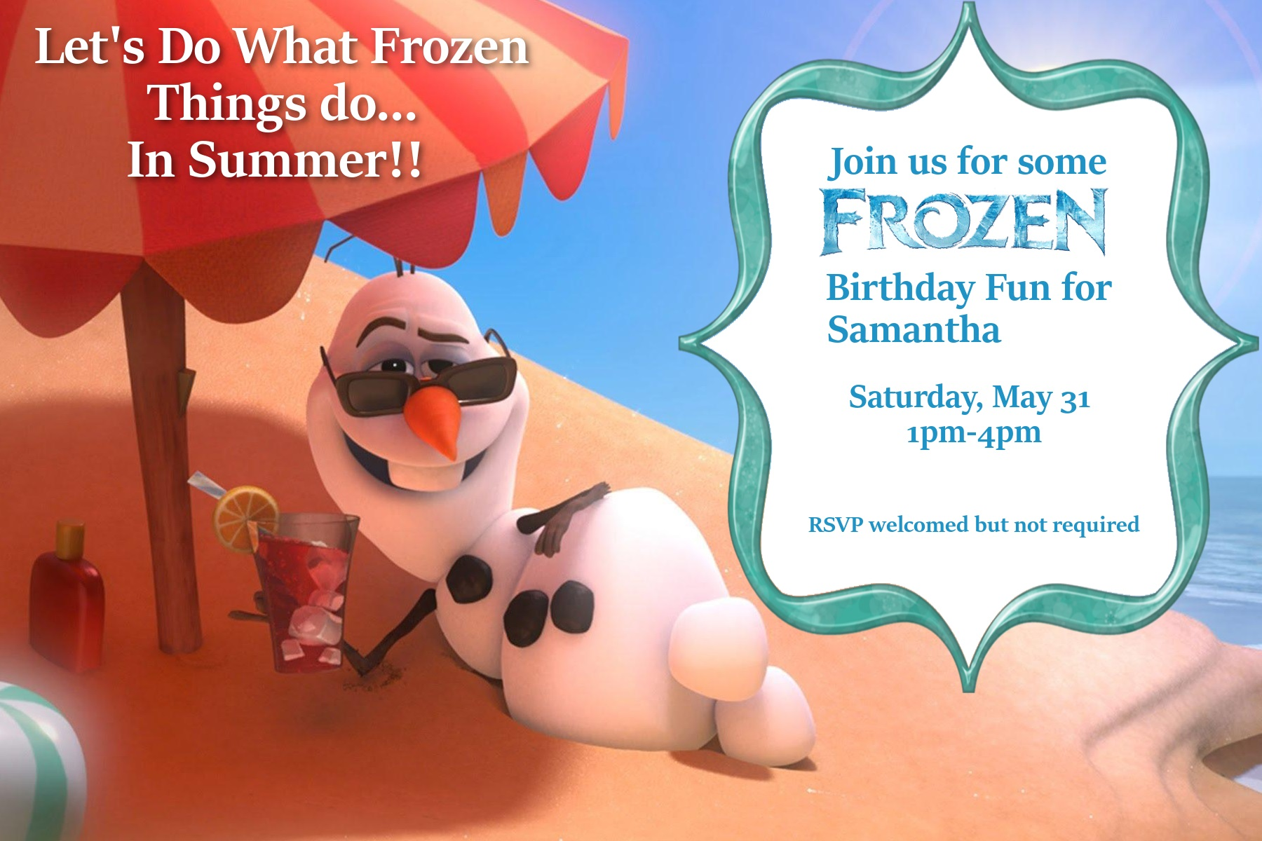 Frozen Birthday Party for Under $100