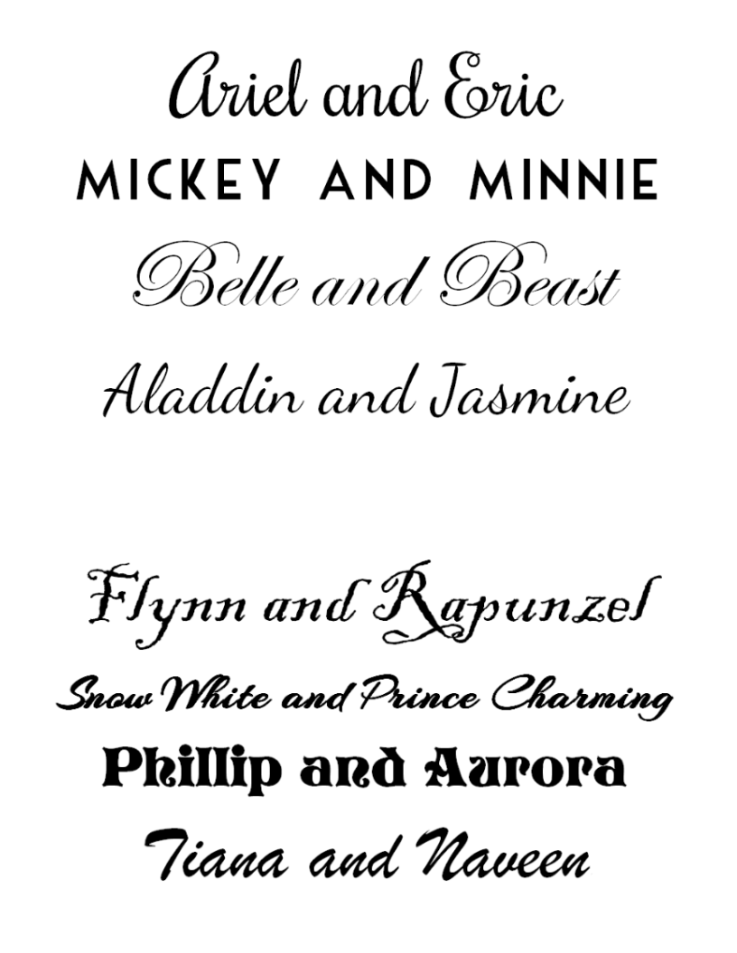 FREE Disney Couples Printable!