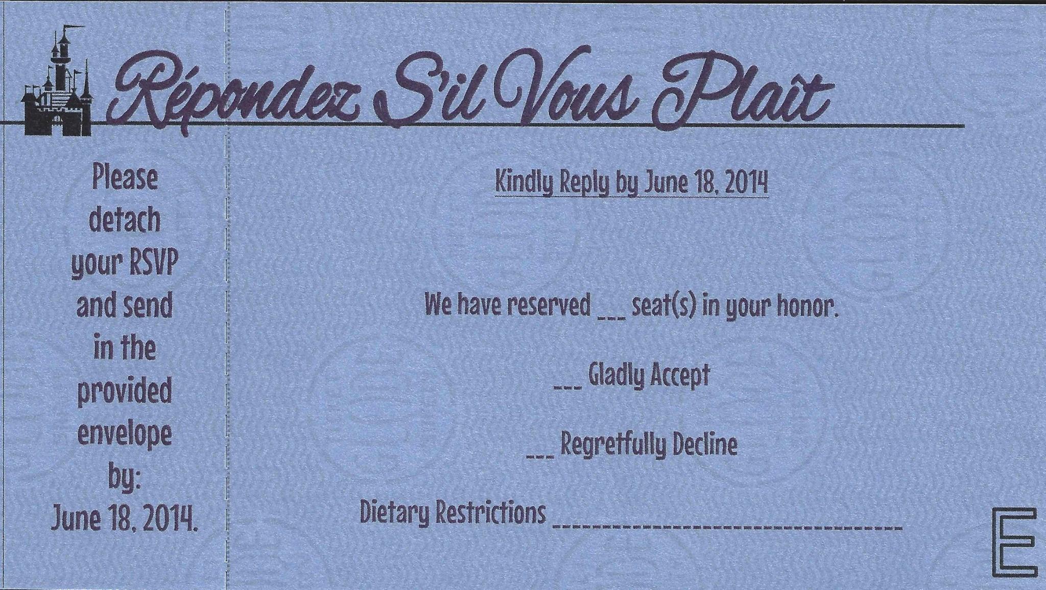 Disneyland Ticket Book Wedding Invitations