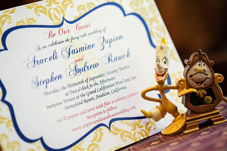 Beauty and the Beast Disneyland Wedding // White Rabbit Photo Boutique