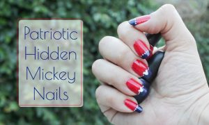 Patriotic Hidden Mickey Nails