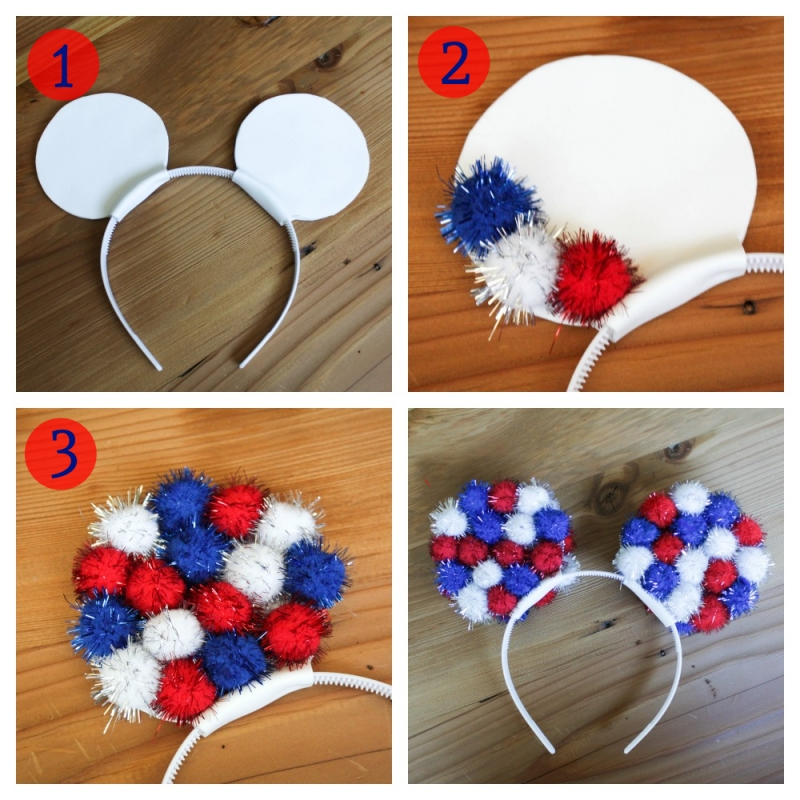 Red, White, and Blue Mickey Ears