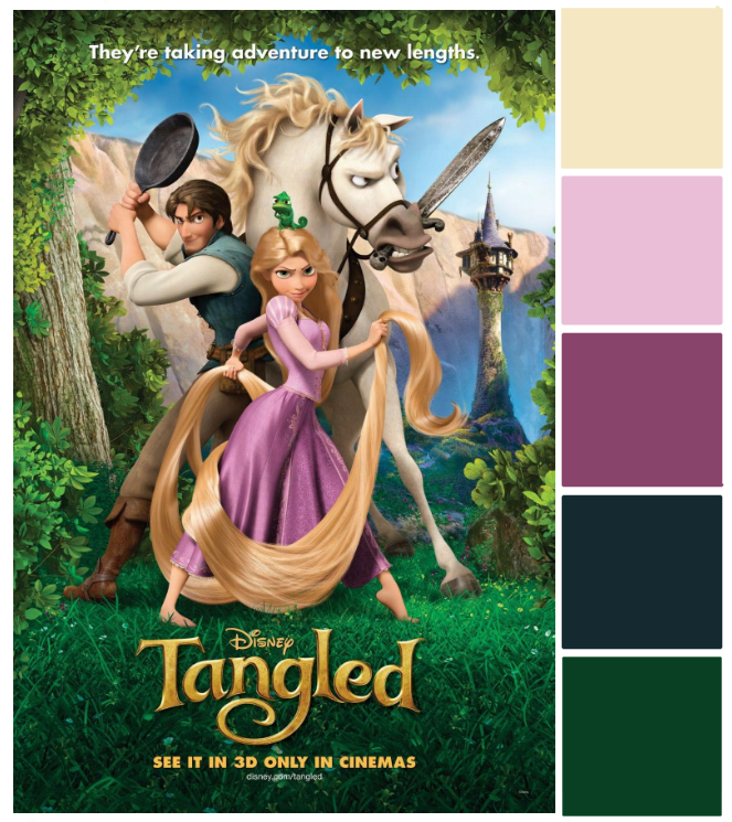 Poster Palette - Tangled - This Fairy Tale Life
